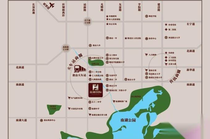 70年 开 发 商:唐山市通华房地产开发有限公司 路北南新西道与站前路图片