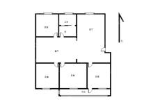 顺河区,城东,花园小区,3室2厅,129.8㎡