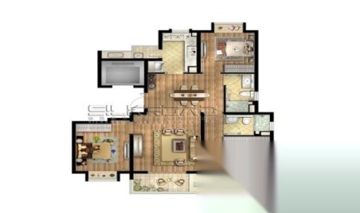 宝山区大场 招商中环华府 3室1厅1卫 120平米