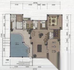 政务区天鹅湖 绿地内森庄园别墅 6室3厅3卫 460平米