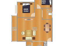 新都,新都,香域中央三期,2室2厅,79.01㎡