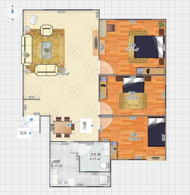 迴龙小区缺稀好楼层 精装修三房两厅一卫 南北通透 元旦可以看