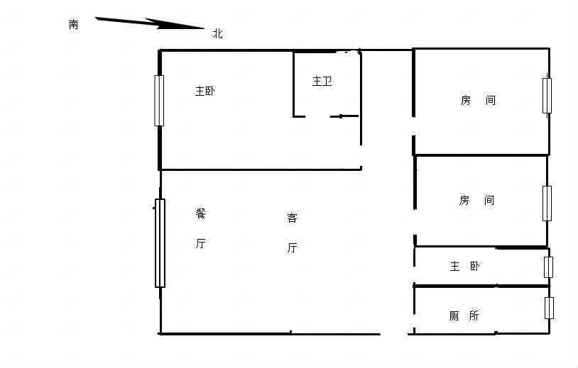 叠彩区沃尔玛商圈广运美居楼梯房 精装3房2厅2卫