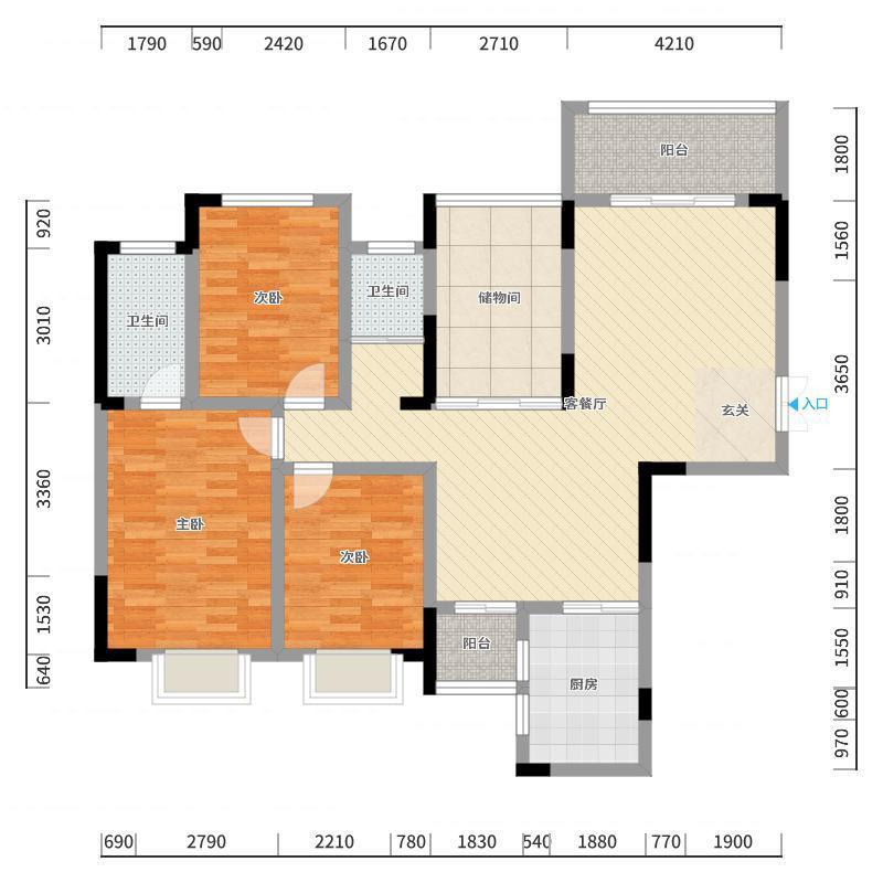 世纪新城精装大3房出售