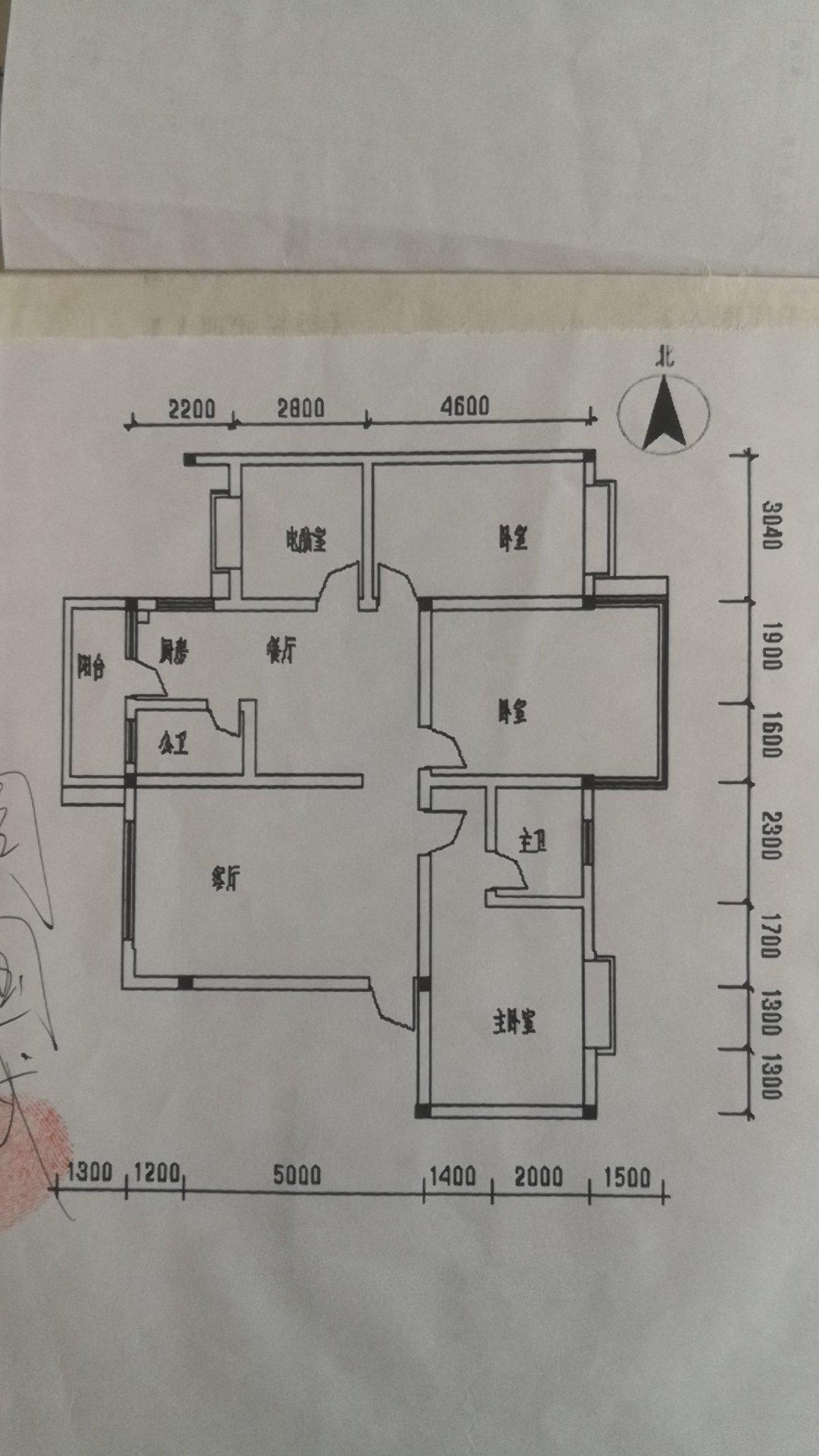 八里街緯四路清華苑4室2廳2衛 有證