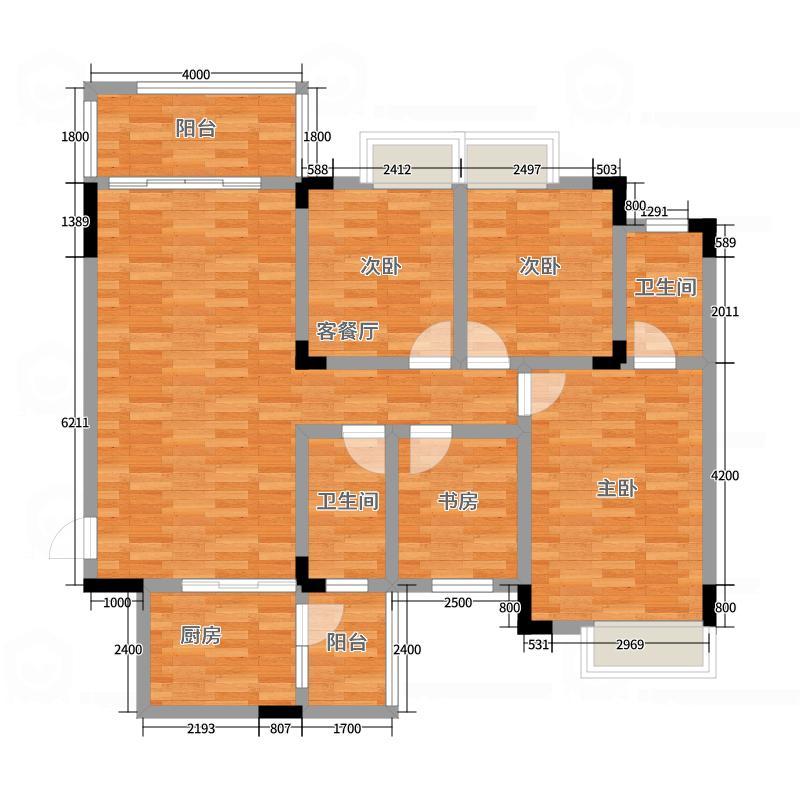 十里春风118平4房2厅2卫90万带车位